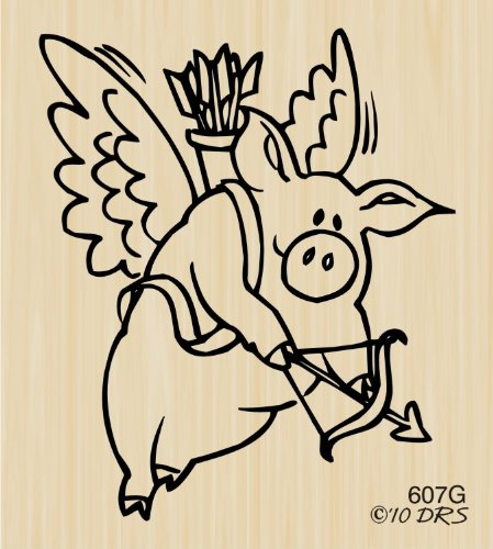 Cupig Rubber Stamp By DRS Designs