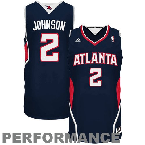 NBA Atlanta Hawks Joe Johnson Road Swingman Jersey Navy, XX-Large
