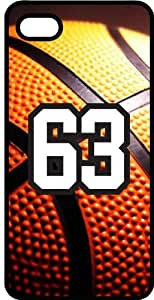 Basketball Sports Fan Player Number 63 Black Rubber Decorative iphone 6 4.7 Case