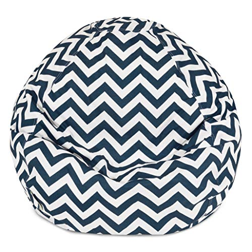 Classic Bean Bag Chair - Chevron Giant Classic Bean Bags for Small Adults and Kids (28 x 28 x 22 Inches) (Navy Blue) ()