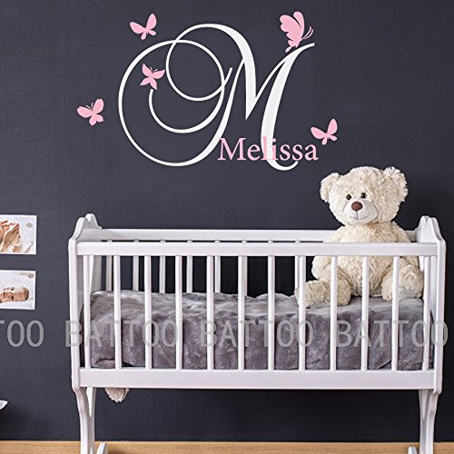 baby nursery monogram wall decal