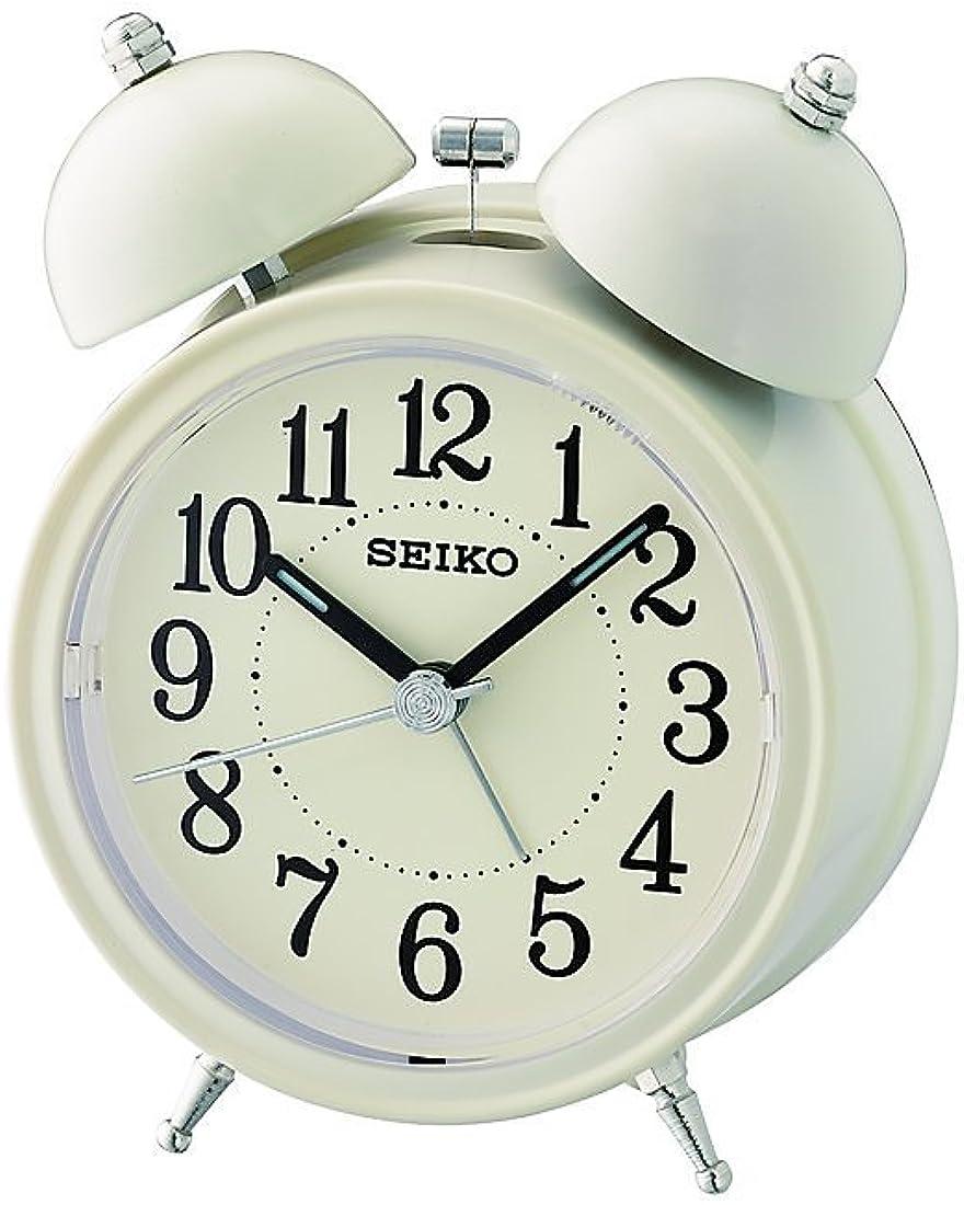 Seiko Despertador analógico de plástico Blanco QHK035C