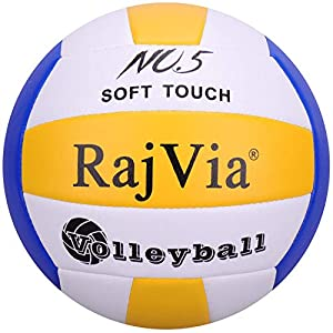 Palla da Gioco Soft Touch Pallone Volley Ufficiale Taglia 5 Indoor Outdoor Beach Gym Pelle Sintetica 51PH4CuwMTL. SS300