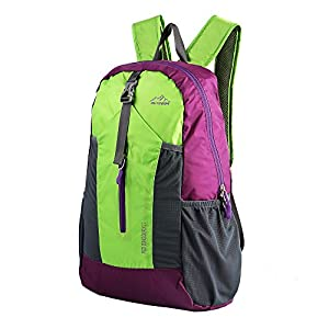 Flyone Lightweight Packable Small Hiking Daypack Backpack for Women Men, Foldable Waterproof Durable Handy Breathable for Climbing Camping Backpacking Cycling Travel Business Airplane