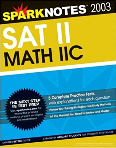 SAT II Math IIc (SparkNotes Test Prep): SparkNotes: 9781586634292 ...