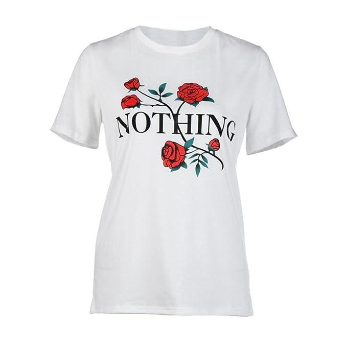 Camisetas Mujer, ❤️Ba Zha Hei Manga Corta Mujer Verano Blusa Mujer Sport Tops Mujer