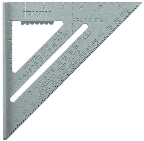 10 Pack Irwin 1794464 7'' Aluminum Rafter Square by Irwin Tools