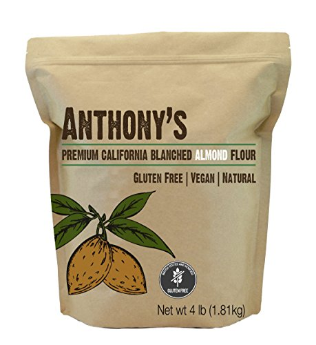 Anthony's Blanched Gluten Free Almond Flour (4 lb) Gluten Free & Non-GMO ()