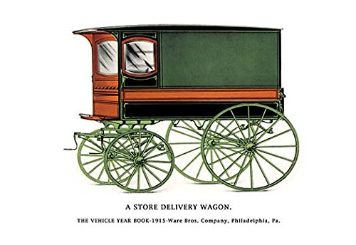 (Store Delivery Wagon Fine Art Canvas Print)