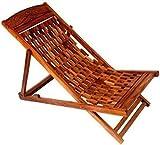 Tayyaba Enterprises Seasoned Sheesham Wooden (Indian Rosewood) Easy Garden/Lawn Foldable Chair.
