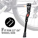 "iHomeGarden Bike Kickstand Adjustable Bicycle Kickstand - Bike Stand for 22""-26"" Road Bike/Mountain Bike - Aluminum Alloy Bike Kick Stand - Bicycle Accessories - Indoor Bike Storage"