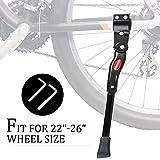 """iHomeGarden Bike Kickstand Adjustable Bicycle Kickstand - Bike Stand for 22""""-26"""" Road Bike/Mountain Bike - Aluminum Alloy Bike Kick Stand - Bicycle Accessories for City Bike Kids Bike Adult Bike"""