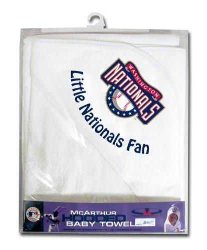 UPC 099606929693, MLB Washington Nationals White Hooded Baby Towel