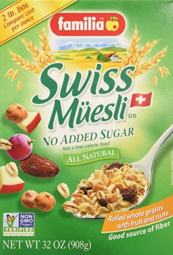 Familia Swiss Muesli Cereal, No Added Sugar, 32-ounce Boxes (Pack of 3) by Familia