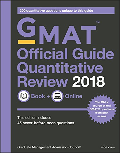 Pdf Education GMAT Official Guide 2018 Quantitative Review: Book + Online (Official Guide for Gmat Quantitative Review)