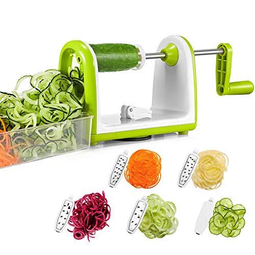 Bonsenkitchen Veggie Spiralizer Slicer Vettable