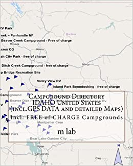 Campground Directory Idaho United States Incl Gps Data And Detailed