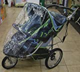 Sashas Rain and Wind Cover for Schwinn Turismo 2011 Double Jogger, Baby & Kids Zone