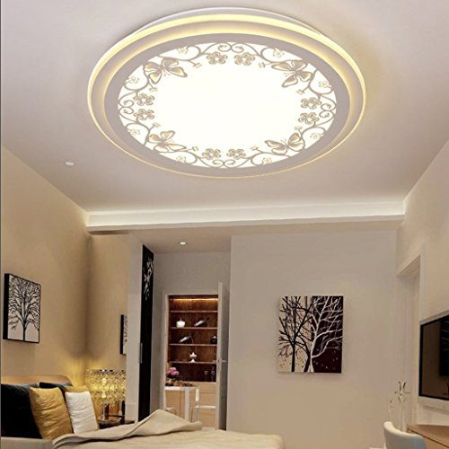 3 Interior Chandelier Light (Pendant lights Ceiling Lamp LED Round Chandeliers Modern Minimalist Living Room Bedroom Study Light (Edition : Three-Color Light, Size : 42cm))