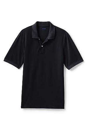 2918d3ed Lands' End Men's Mesh Short Sleeve Polo Shirt at Amazon Men's ...