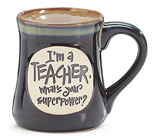 Teacher Superpower Deep Black Mug product image