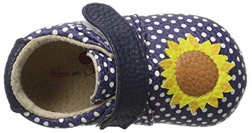 Rose & Chocolat Polka Sunflower - Botas de senderismo Bebé-Niños azul (navy)