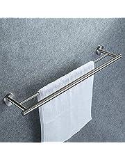 عمود منشفة الحمام الفردي الذي يثبت على الحائط من الستانلس ستيل SUS304 من كيس،A2000Brown COMIN18JU057776- 2724593867212