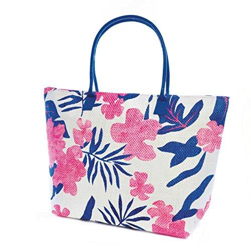Womens Leaf Ladies Handbag Summer Pattern Floral Woven Blue Green rzrBqwtUx