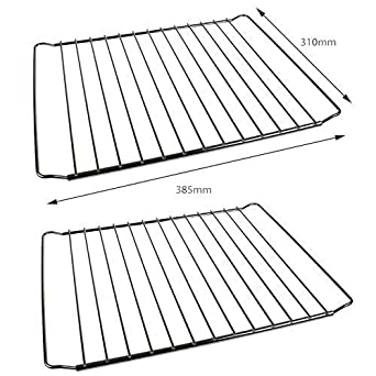 2 pack of universal oven cooker shelves rack grid adjustable rh amazon co uk