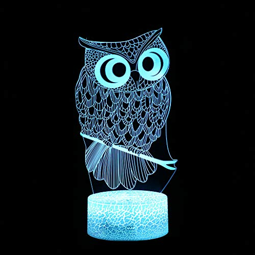 (Iusun LED 3D Illuminated Lamp Optical Illusion Desk Night Light with 7 Color ChangingDecorations Glowing DIY Ornament Wedding Party Holiday Decor)