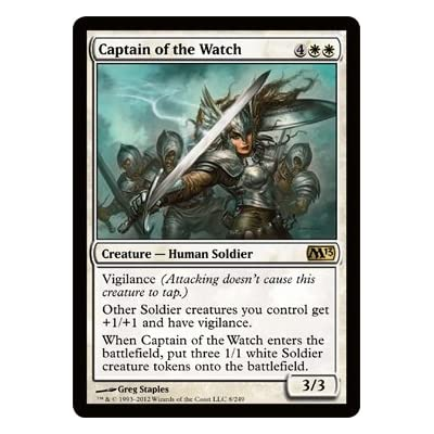 Magic: the Gathering - Captain of The Watch (8) - Magic 2013 - Foil: Toys & Games