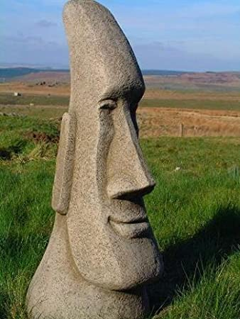 Brilliant Large Easter Island Moai Head Garden Ornament