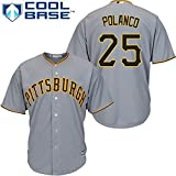 Gregory Polanco Pittsburgh Pirates Gray Toddler Cool Base Road Replica Jersey