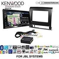 Volunteer Audio Kenwood DNX574S Double Din Radio Install Kit with GPS Navigation Apple CarPlay Android Auto Fits 2012-2015 Toyota Tacoma with Amplified System