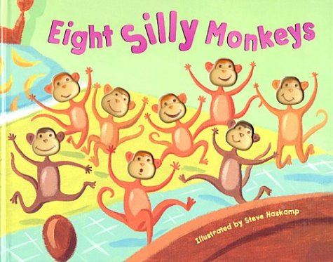 Eight Silly Monkeys (Ten Little Monkeys Jumping On The Bed Story)