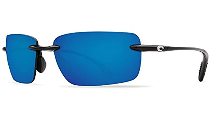 0ea49631f7 Costa Oyster Bay Sunglasses Shiny Black Blue Mirror 580P   Cleaning Kit  Bundle