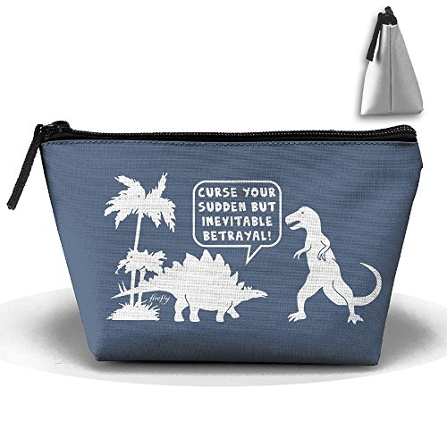 Dinosaur Firefly Sudden Trapezoid Travel Bag Portable Storage Pouch Makeup Waterproof Toiletry Cosmetic Bags Brush Zipper Wallet Hangbag Pen Organizer Carry Case Wristlet Holder