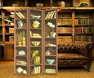 Vogue JWQT-0213 MDF and Canvas Multi Color Room Divider - H120 cm x W180 cm x D2.5 cm