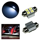PA LED 2pcs x Car accessory Festoon 28mm 4SMD 5050 with Canbus Radiator White Color LED 12V Reading Light