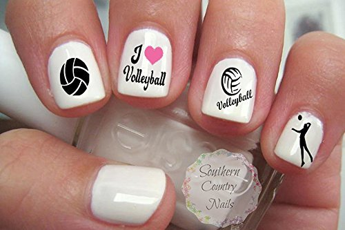 Amazon 40 Sports Volleyball Nail Art Designs Decals Beauty