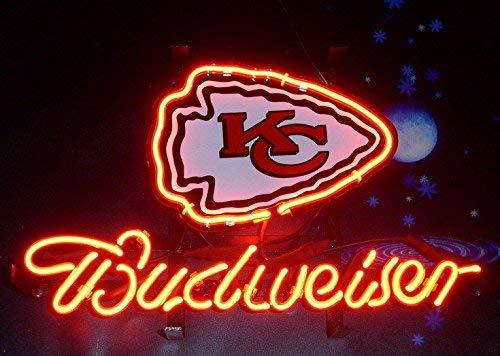 Desung 20x16 Budweisers Kansas City Kc Sports Team Chief Neon Sign