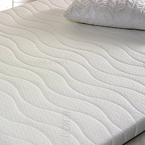 Visco Therapy Memory Foam Fibre 3Inch (7.5cm) Mattress Topper with Free Cover (4FT6 Double)
