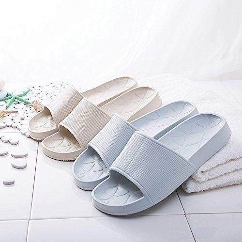 WILLIAM&KATE Frühling Sommer Unisex Haushalt Slipper Casual Anti-Slip Bad Hausschuhe Weiche Leichte Sandale Indoor & Outdoor Paar Hausschuhe Blau Grau
