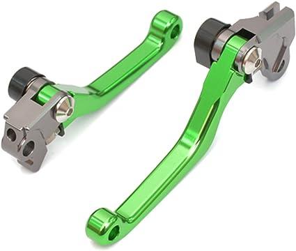 Tencasi Grün Cnc Pivot Bremshebel Kupplungshebel Hebel Set Kompatibel Mit Kawasaki Kx250f 2013 2017 Kx450f 2013 2018 Kx250 2019 Auto