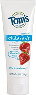 product image for Tom's of Maine No Fluoride Children's Toothpaste, Silly Strawberry - 4.2 oz - 2 pk - Packaging May Vary