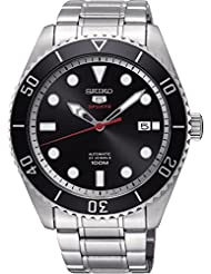 Seiko Series 5 Automatic Black Dial Mens Watch SRPB91
