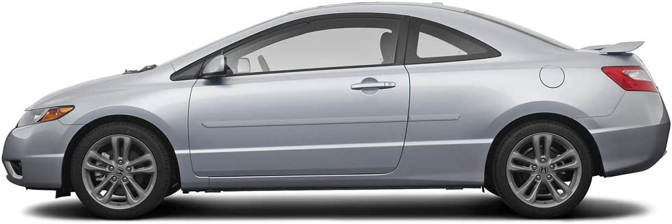 Polished Metal Dawn Enterprises FE-CIV062 Finished End Body Side Molding Compatible with Honda Civic NH737