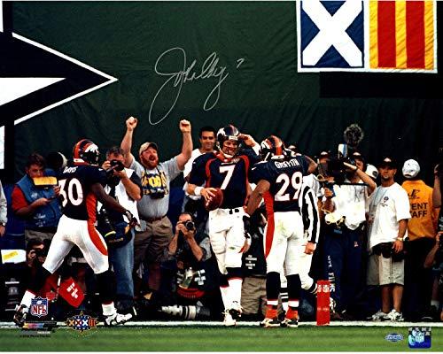 (John Elway Denver Broncos Signed Super Bowl Mile High Salute 16x20 Photograph - Steiner Sports Certified)