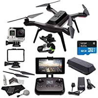 3DR Solo Drone Quadcopter + 3D Robotics Solo Gimbal + GoPro HERO4 Silver Camera + 3DR Solo Propeller Set + Lexar High Performance microSDHC 633x 32GB + Polaroid Camera Cleaning Kit Accessory Bundle