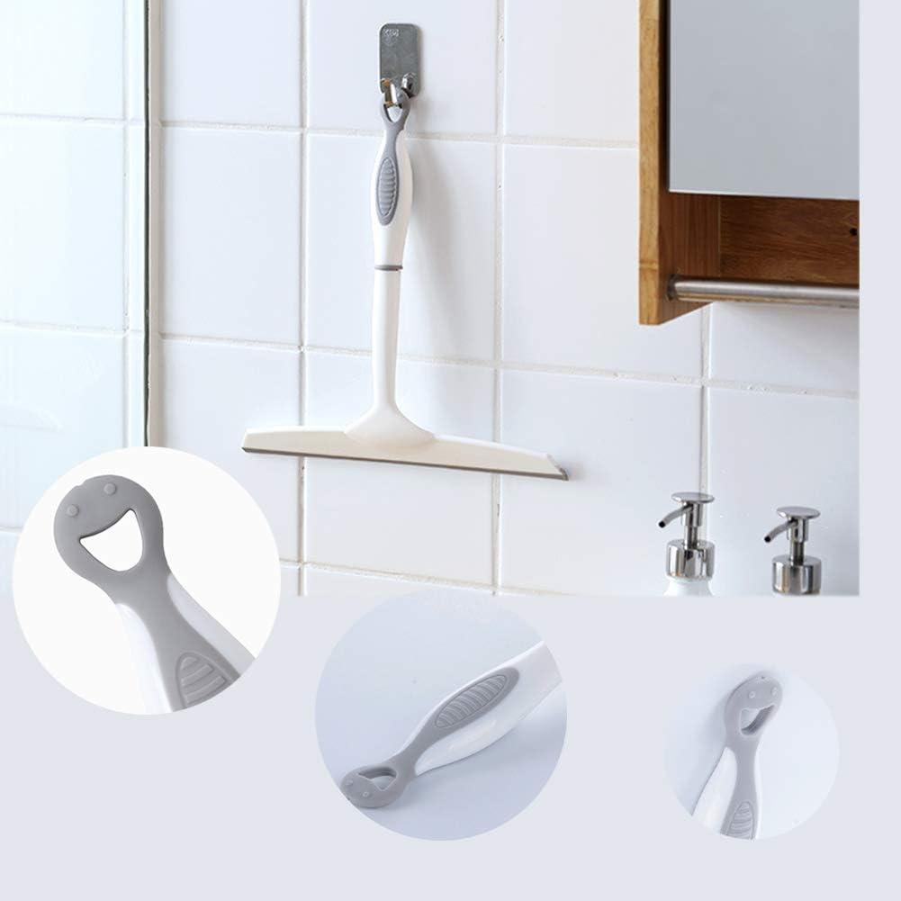 Fensterabzieher Duschwischer f/ür Badezimmer Spiegel Fenster Glasreinigung Wei/ß 25,5 x 25,5 cm Duschabzieher Silikon